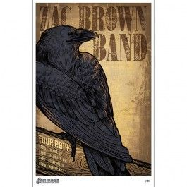 2014 Zac Brown Band Tour Collection Print– No. 2