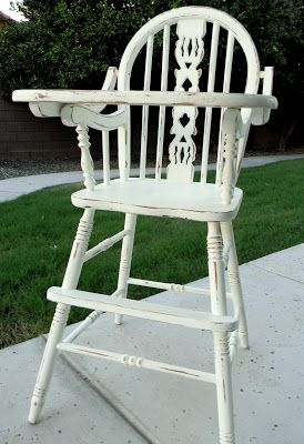 Little Bit of Paint: Refinished Antique High Chair