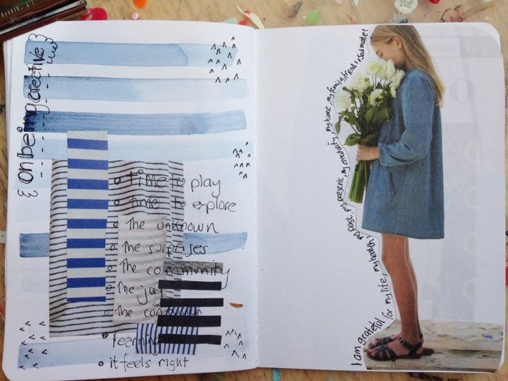 squiggleandswir | Blue | Messy Lists | Get Messy Art Journal
