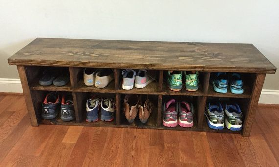 This Rustic Shoe Bench With Cubbies Will Have Overall Dimensions Of 54l X 14w X Shoe Cubby Bench Shoe Cubby Cubby Bench