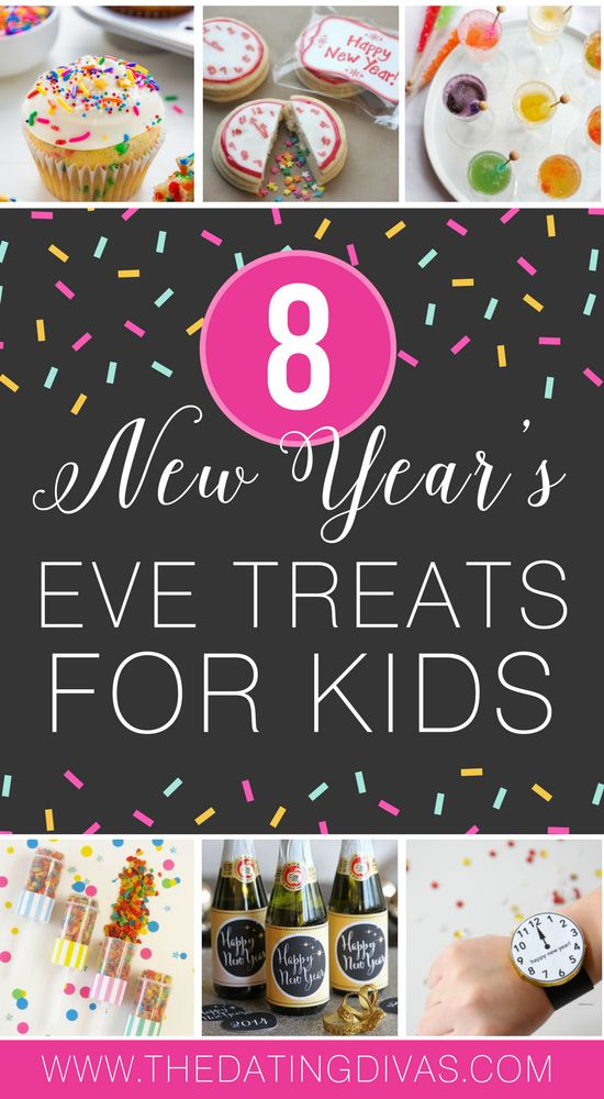 8 News Year's Eve Treats for KIDS- these are so fun! #NYE #newyearsevee #neewyearseveforkids