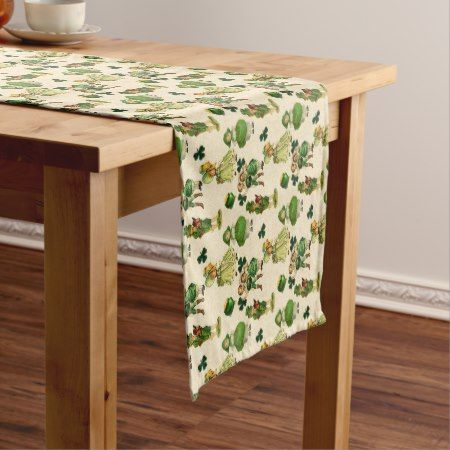 Vintage Saint Patrick's Day Holiday table runner - click/tap to personalize and buy