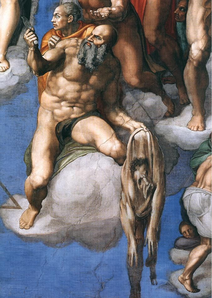"tierradentro:  ""The Last Judgement"" (detail), 1537-41, Michelangelo. Sistine Chapel, The Vatican."