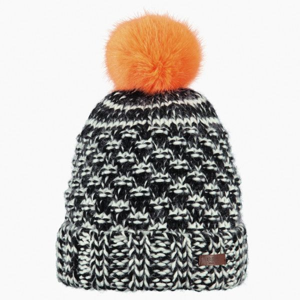 Orange Bobble Kazbek Beanie ($37) ❤ liked on Polyvore featuring men's fashion, men's accessories, men's hats, mens bobble hats, mens pom pom hat and mens beanie hats