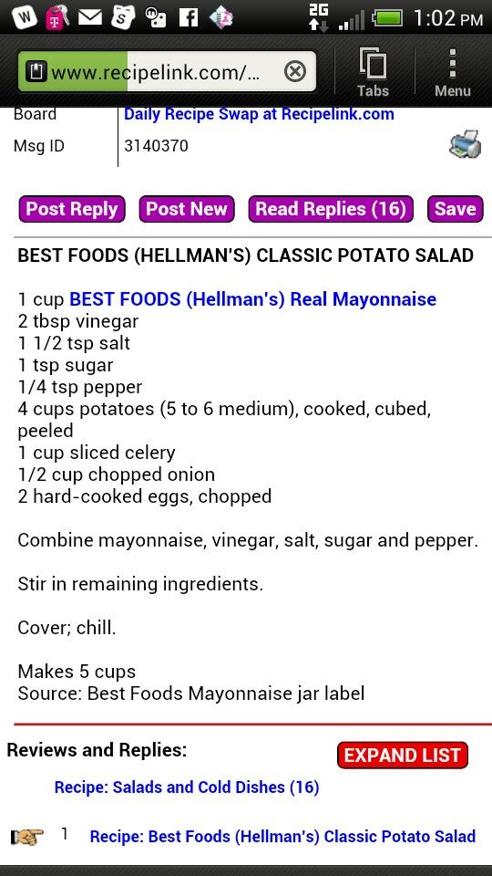 Hellmans potato salad