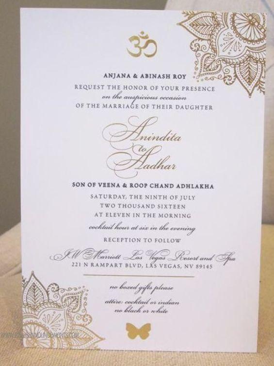 Beautiful Design Details Make This Indian Wedding Invitation Design Elegant And Stu In 2020 Gold Wedding Invitations Foil Wedding Invitations Desert Wedding Invitation