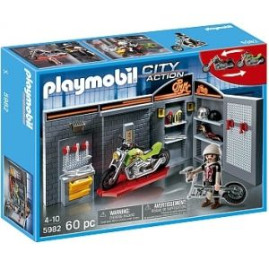 taller de motos playmobil