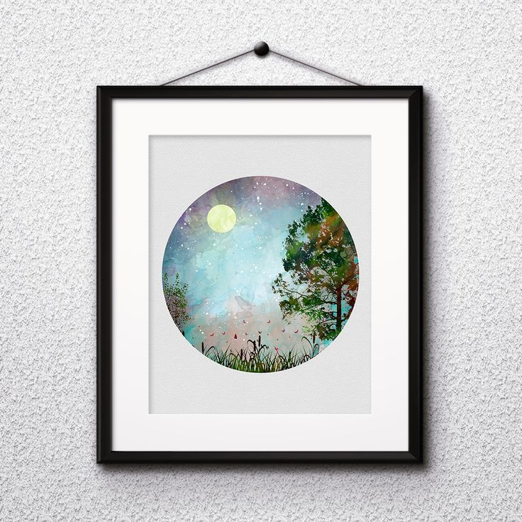 Nature Geometric wall art prints, posters, wall paintings, home watercolor art