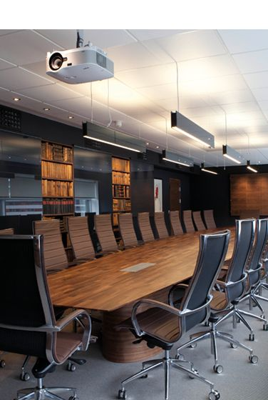 Conference room in Aasegarden, Norway. Architecture: CS Interiordesign AS. Lighting: #Intralighting