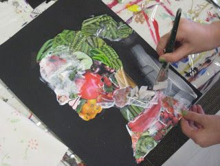 Arcimboldo project - would be great for younger grades. Get on list for fruit/seed catalogs...