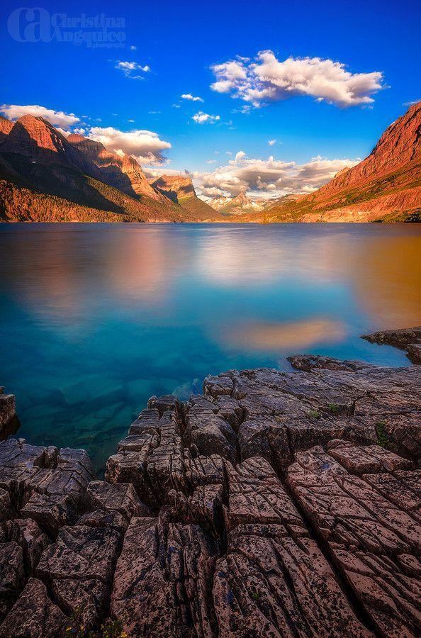 Cracked Earth - St. Mary's Lake, Glacier National Park, Montana
