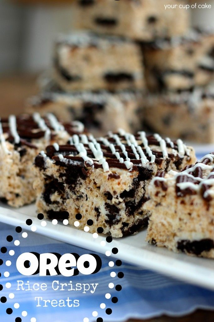 Oreo Rice Crispy Treats-- I know a brother that would probably like these
