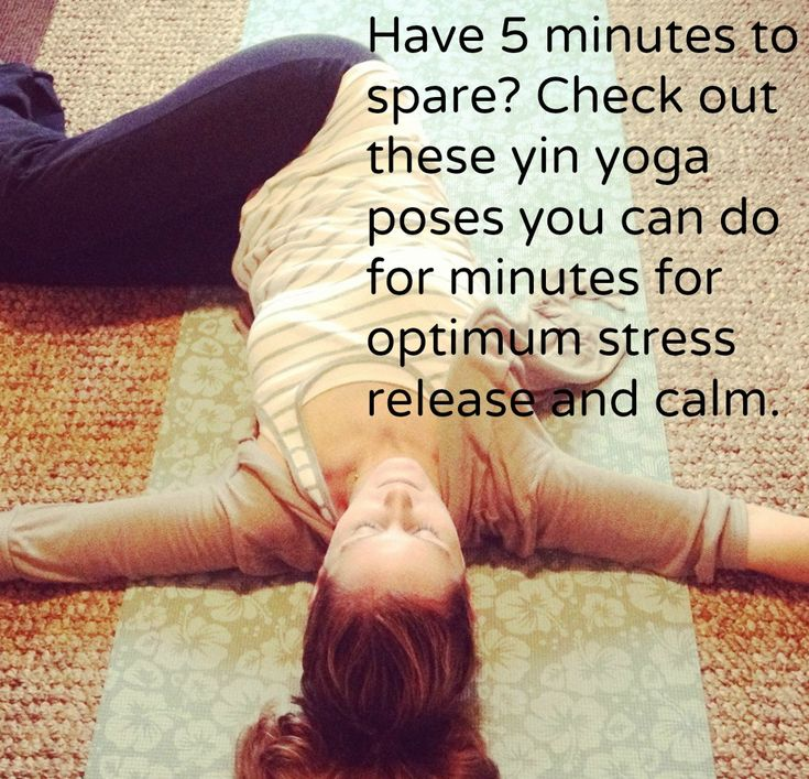 Have a few minutes to spare? Try one of these yoga poses for optimum stress release and calm.  http://healthylittlebit.com/just-one-yin-yoga-pose/