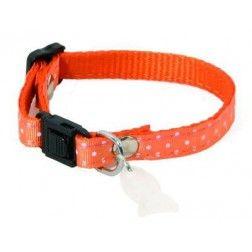 Collar Para Gatos Lunares Naranja
