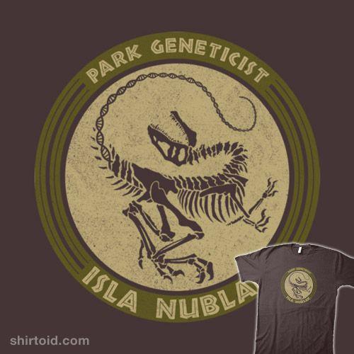 Park Genetics | Shirtoid #dinosaur #film #islanublar #jurassicpark #jurassicworld #kathaynes #movies #scifi