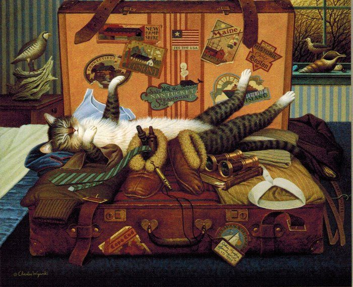 The Whimsical Art of Charles Wysocki - Mabel, the Stowaway.