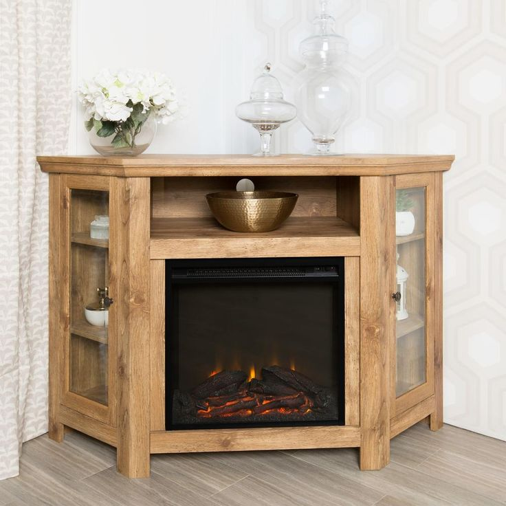 Luxury Corner Fireplace Tv Cabinet