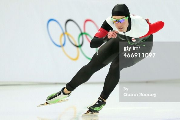 News Photo: Brianne Tutt of Canada practices during a speed…