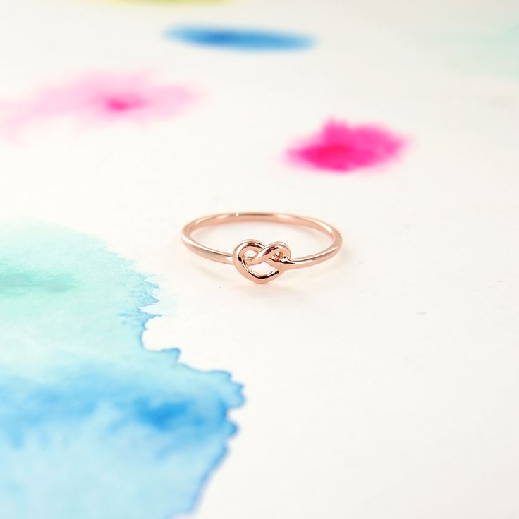 Simple Tiny Infinity Knot Ring in Rose Gold