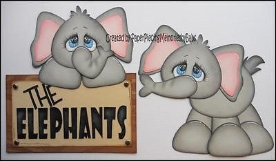 Premade Zoo Elephants Paper Piecing Set for Scrapbook Pages by Babs | eBay
