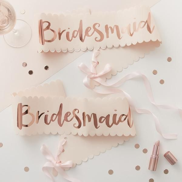 Bridesmaid Sash x 2