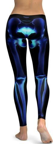 X-ray Skeleton Leggings - GearBunch Leggings / Yoga Pants