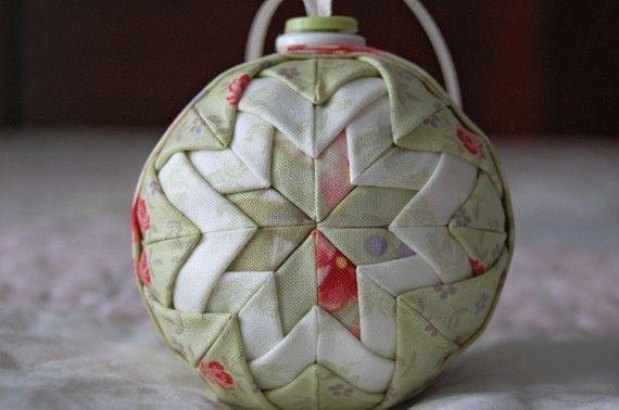 Quilt Ball Fabric Ornament