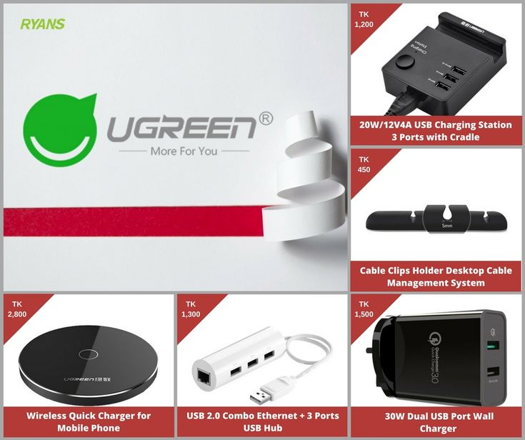Smart accessories for you smart device. For more information visit our website. #ryans #ryanscomputers #ugreen