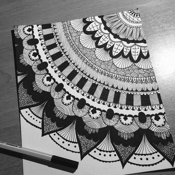 art, draw, drawing, mandala
