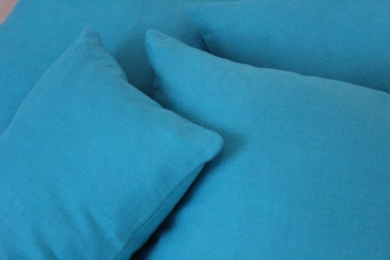 Set of 5, Decorative Blue Pillow Cover Set, Living Room, Bedroom on Etsy, $58.00