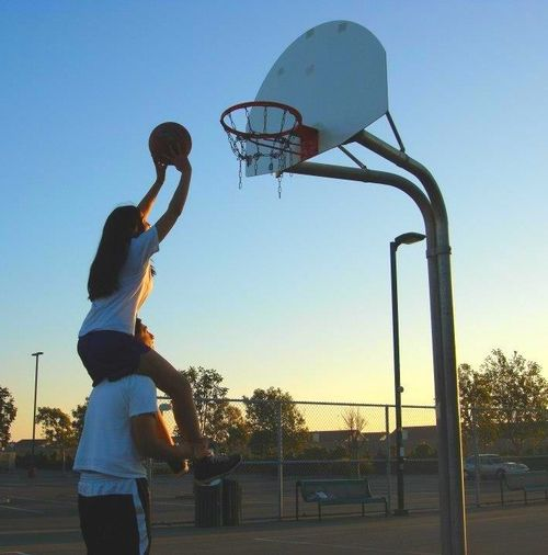 Basketball layup