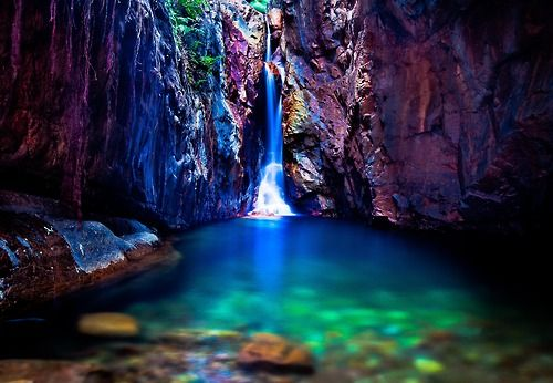 El Questro Gorge - The Kimberley - Western Australia.  It was a two hour hike to the end of the gorge with my large camera rig on my back but this shot made it all worthwhile. Magic moments like this are why I love being a photographer.