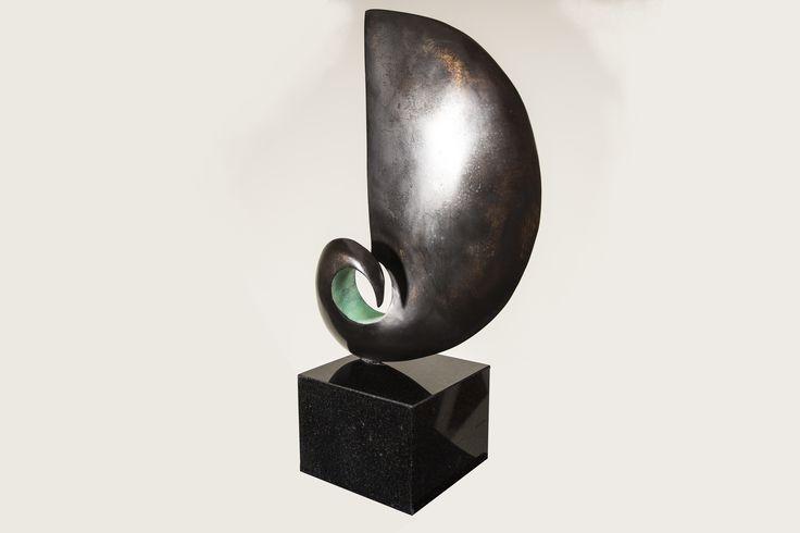 Uniek gegoten bronzen beeld `Zwier` 40 cm hoog