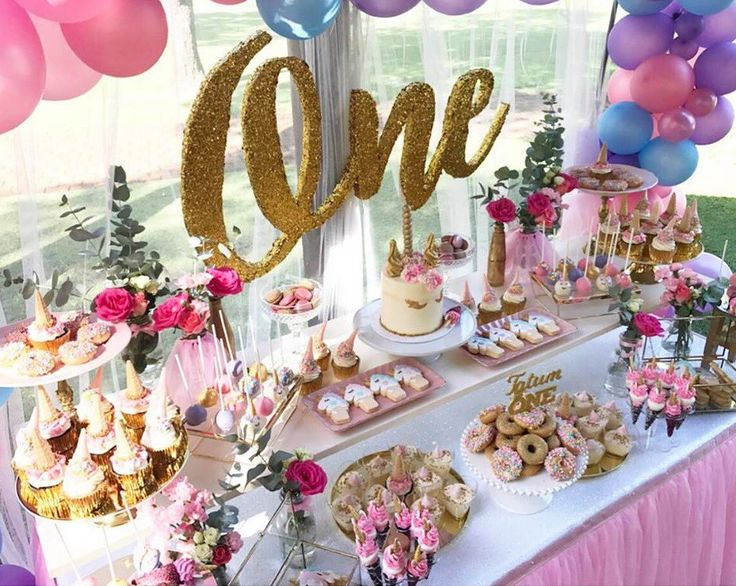 first-unicorn-birthday-party-gold-and-pink