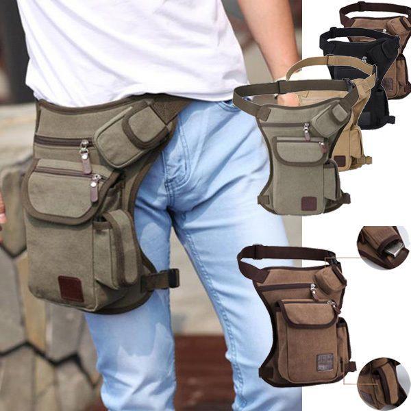 Mens Tactical Leg Bag Waist Pack Purse Phone Mini Outdoor Sport Bags Portable
