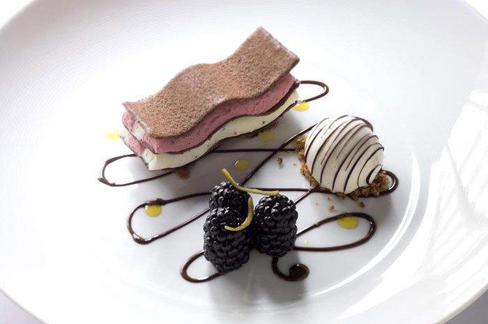 Amazing Dessert at Gordon Ramsey's Restaurant in London. It will set you back about $355.00 for dinner there.