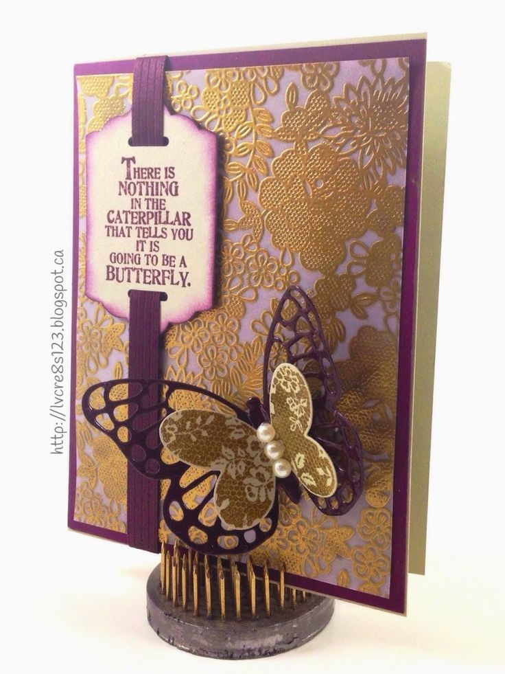Linda Vich Creates: Butterfly Thinlits Dies and the Butterfly Basics stamp set team up to create this stunning, vellum embossed card.