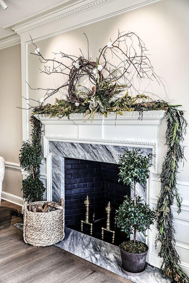 25 beste ideeën over fireplace garland op pinterest kerst