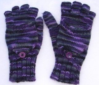 dawnknits - Fingerless Gloves and Glittens (free pattern)