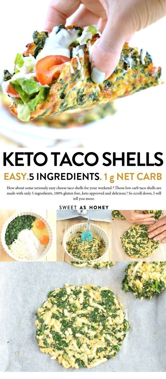 Soft Low carb spinach taco shells makes a delicious replacement to regular tacos. ^^ CLICK TO SEE FULL RECIPES ^^ | Keto | Ketogenic Diet | Keto Recip...