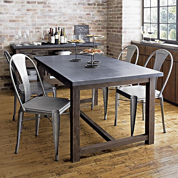 Crate And Barrel Table · Metal Dining ChairsDining ...