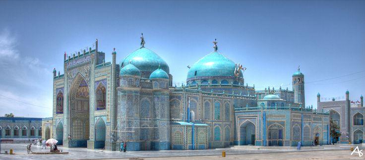 Mazar-e Sharif's Shrine of Hazrat Ali, Afghanistan's holiest pilgrimage site.