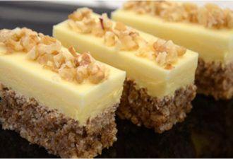 Удивительно нежное пирожное с орехами и белым шоколадом — изумительный десерт будет готов всего за полчаса! - be1issimo.ru