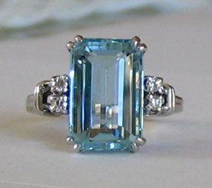 Aquamarine ring... one day