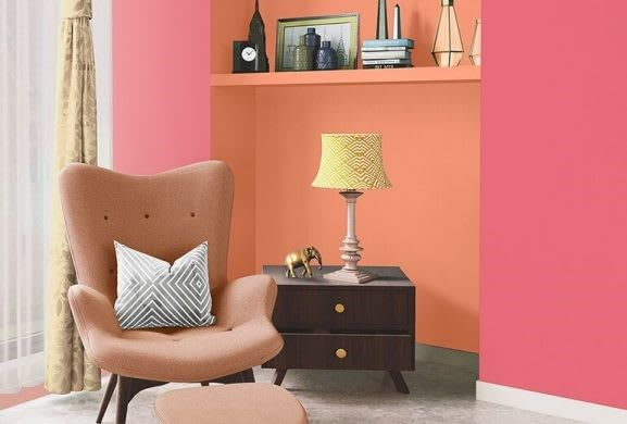 How Much Pink Is Too Much Pink Well This Combination Is Definitely Not Shades Used 8054 Raspberry Souffle 7992 Asian Paints Painting Services House Painting