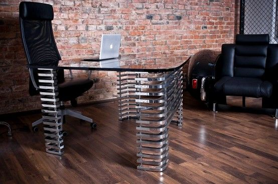 Large office desk - rescaled and flatten shape of 427's hood