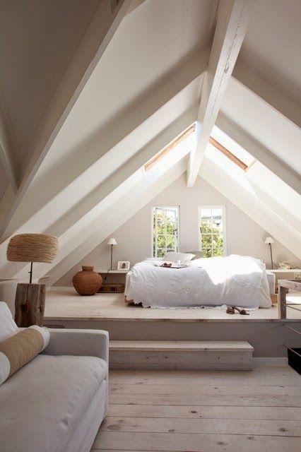 Die 25+ Besten Ideen Zu Dachgeschoss Schlafzimmer Auf Pinterest ... Schlafzimmer Unter Dem Dach