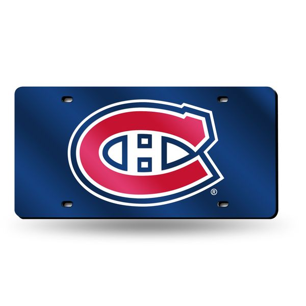 Montreal Canadiens Laser Cut License Plate - Navy