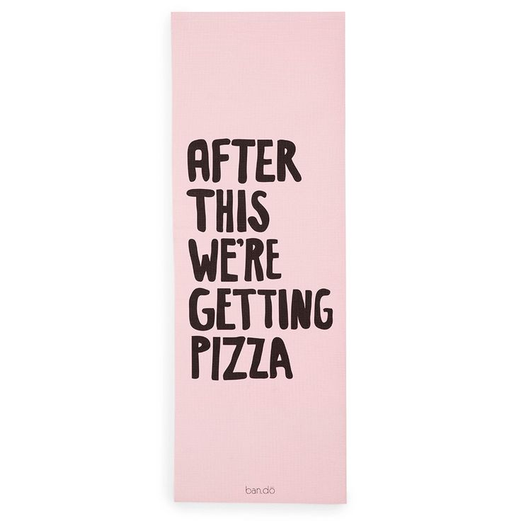 Work It Out Exercise Mat - After This We're Getting Pizza | Ban.do