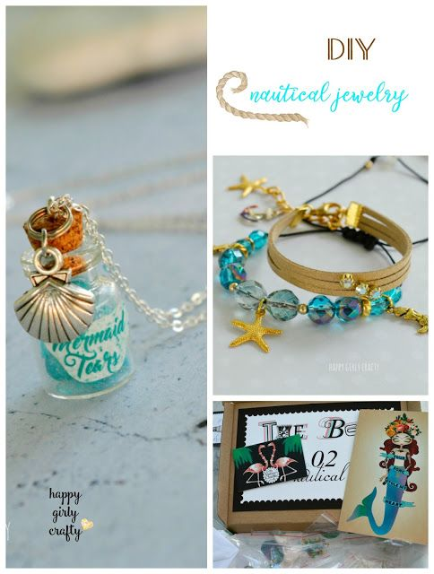 "DIY Nautical chic jewelry and monthly box by ""My Vintage charms"" review. - happy girly crafty"